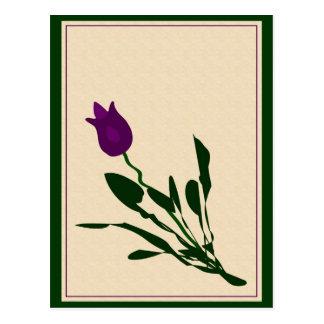 Carte Postale Tulipe abstraite