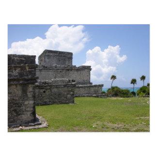 Carte Postale Tulum, ruines maya, Mexique