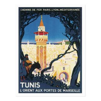 Carte Postale Tunis vintage Afrique