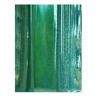 Carte Postale Turquoise et réflexions bleues dans le verre