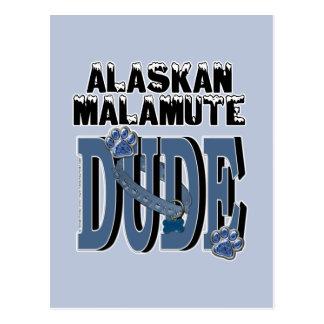 Carte Postale TYPE de Malamute d'Alaska