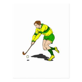 Carte Postale Type d'hockey de champ