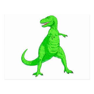 Carte Postale Tyrannosaurus vert clair Rex