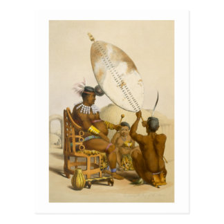 Carte Postale Umpanda le roi de l'Amazulu, plaquent 11 du 'Th