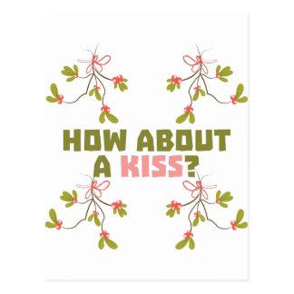 Carte Postale Un baiser