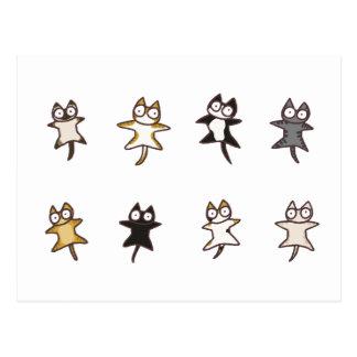 Carte Postale Un bon nombre de chats