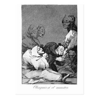 Carte Postale Un cadeau pour le maître par Francisco Goya