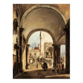 Carte Postale Un caprice architectural par Francesco Guardi
