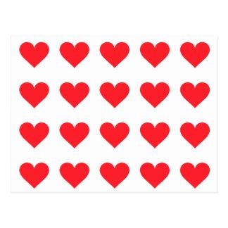 Carte Postale Un coeur de l'amour et de l'affection