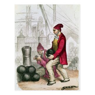 Carte Postale Un Convict dans la colonie pénale de Toulon