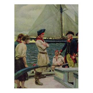 Carte Postale Un corsaire américain prenant un prix britannique