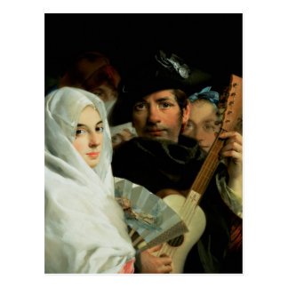 Carte Postale Un couple élégant de Madrid, c.1770