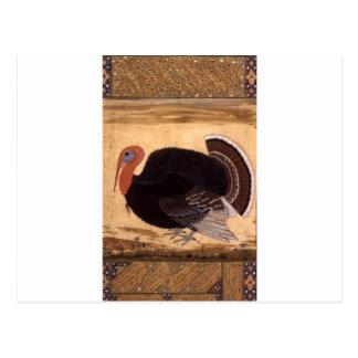 Carte Postale Un dindon a apporté à Jahangir de Goa en 1612