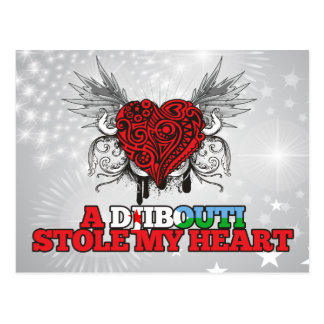 Carte Postale Un Djibouti a volé mon coeur