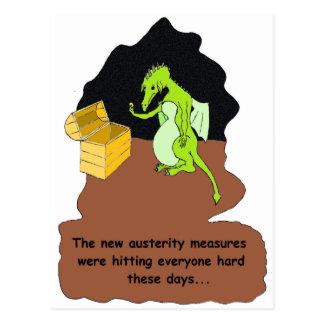 Carte Postale Un dragon dans l'austérité (brun)