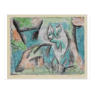 Carte Postale Un genre de chat par Paul Klee