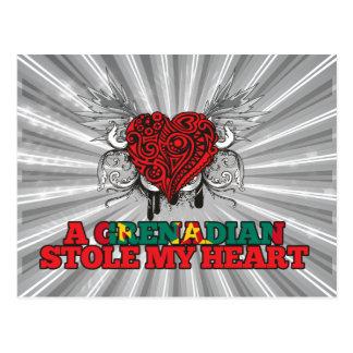 Carte Postale Un Grenadin a volé mon coeur