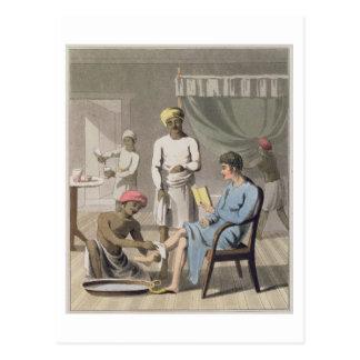 Carte Postale Un habillage de monsieur, occupé par son porteur