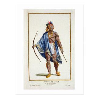 Carte Postale Un Indien noble de la nation d'Ottawa, 1780 (colou