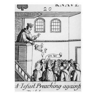 Carte Postale Un jésuite prêchant contre notre bible