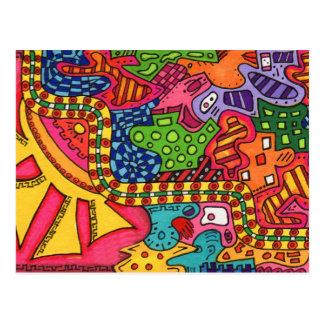 Carte Postale Un labyrinthe
