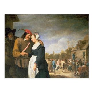Carte Postale Un mariage rural, 1648