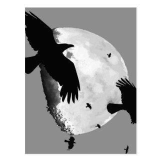 Carte Postale Un meurtre des corneilles et de la lune