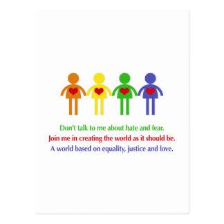 Carte Postale Un monde d'égalité, de justice et d'amour