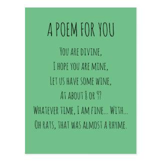 Carte Postale Un poème pour vous