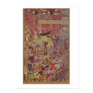Carte Postale Un pont des bateaux cassés par Akbar (r.1556-1605)