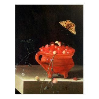 Carte Postale Un pot de fraisiers communs
