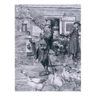 Carte Postale Un quaker Exhorter en Nouvelle Angleterre