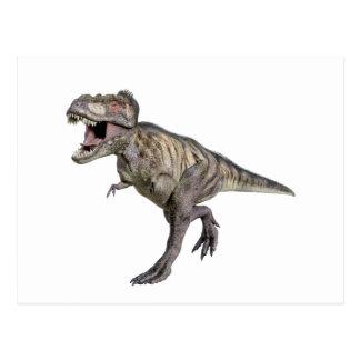 Carte Postale Un Tyrannosaurus Rex courant vers la droite