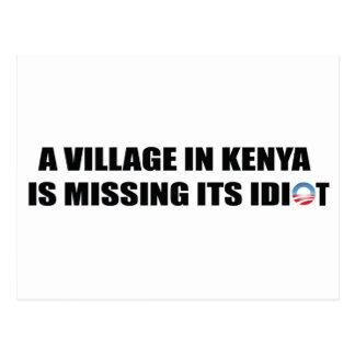 Carte Postale Un village au Kenya manque son idiot