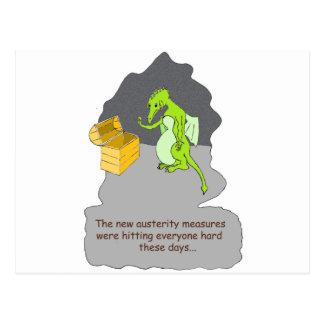 Carte Postale Une austérité de dragons