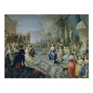 Carte Postale Une boule sur la terrasse d'un palais