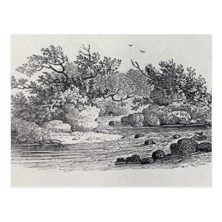 Carte Postale Une courbure en rivière de la 'histoire des