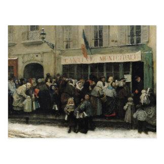 Carte Postale Une cuisine de soupe pendant le siège de Paris