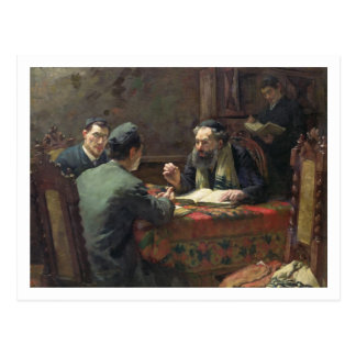 Carte Postale Une discussion théologique, 1888