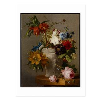 Carte Postale Une disposition avec des fleurs, 19ème siècle
