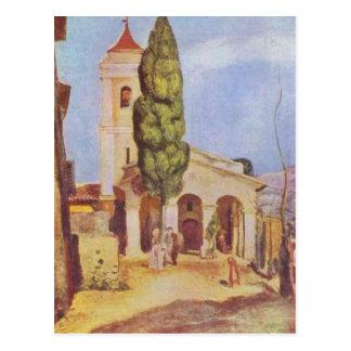 Carte Postale Une église chez Cagnes par Pierre-Auguste Renoir