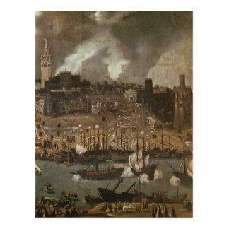 Carte Postale Une expédition visant de Séville pour
