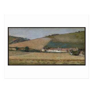 Carte Postale Une ferme parmi des collines, Giverny, c.1887