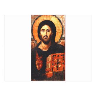 Carte Postale Une icône du 6ème siècle de Jésus