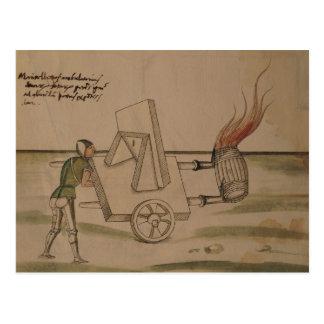 Carte Postale Une machine de guerre, illustration de 'De