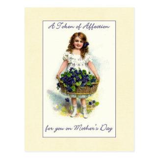 Carte Postale Une marque du jour de mère d'affection