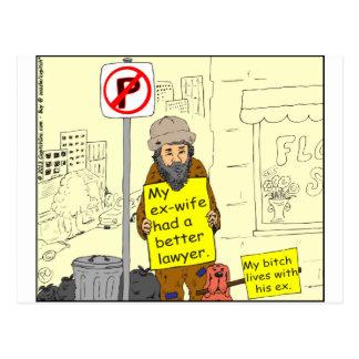Carte Postale une meilleure bande dessinée d'avocate de l'épouse