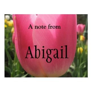 Carte Postale Une note d'Abigaïl