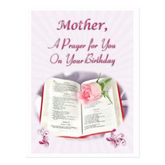 Carte Postale Une prière pour une mère sur son anniversaire