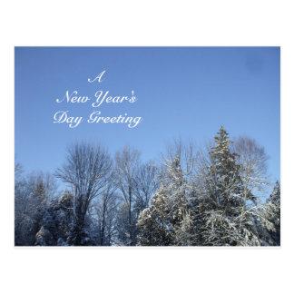 Carte Postale Une salutation du jour de nouvelle année